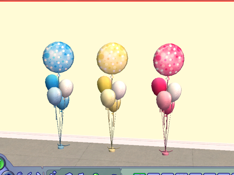 mod the sims baby shower balloons