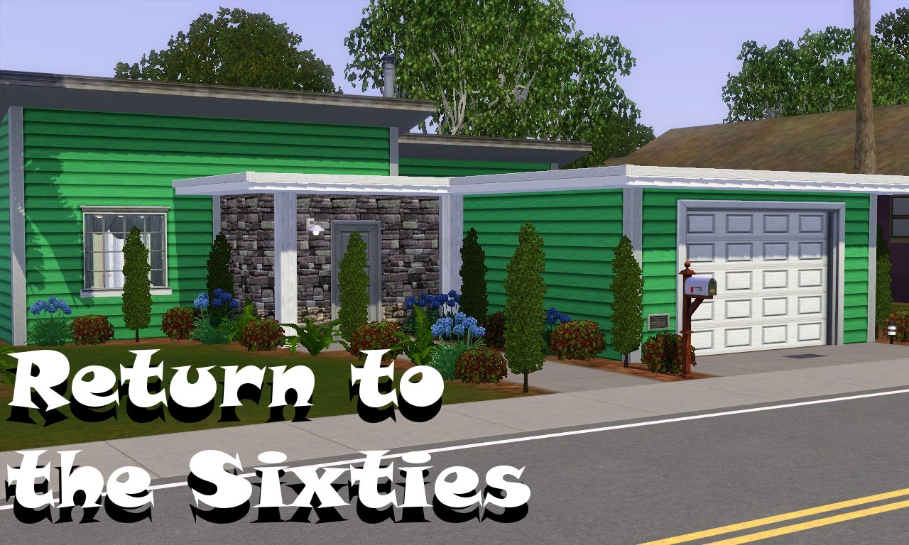 Mod the sims return to the sixties 39 mint 39 for Classic house sims 3