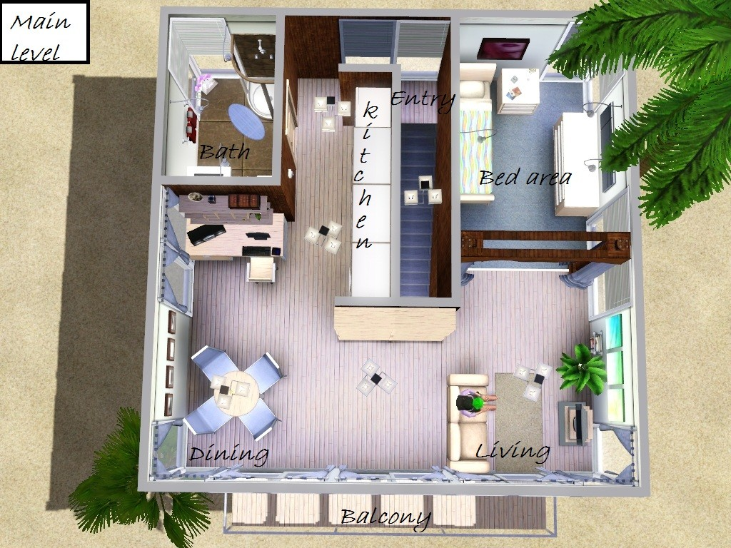 Mod The Sims - Unique Design II: Modern Minimi (10x10 lot!!)