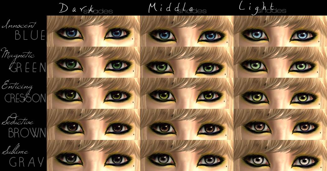Different Shades Of Blue Eyes Chart My Web Value