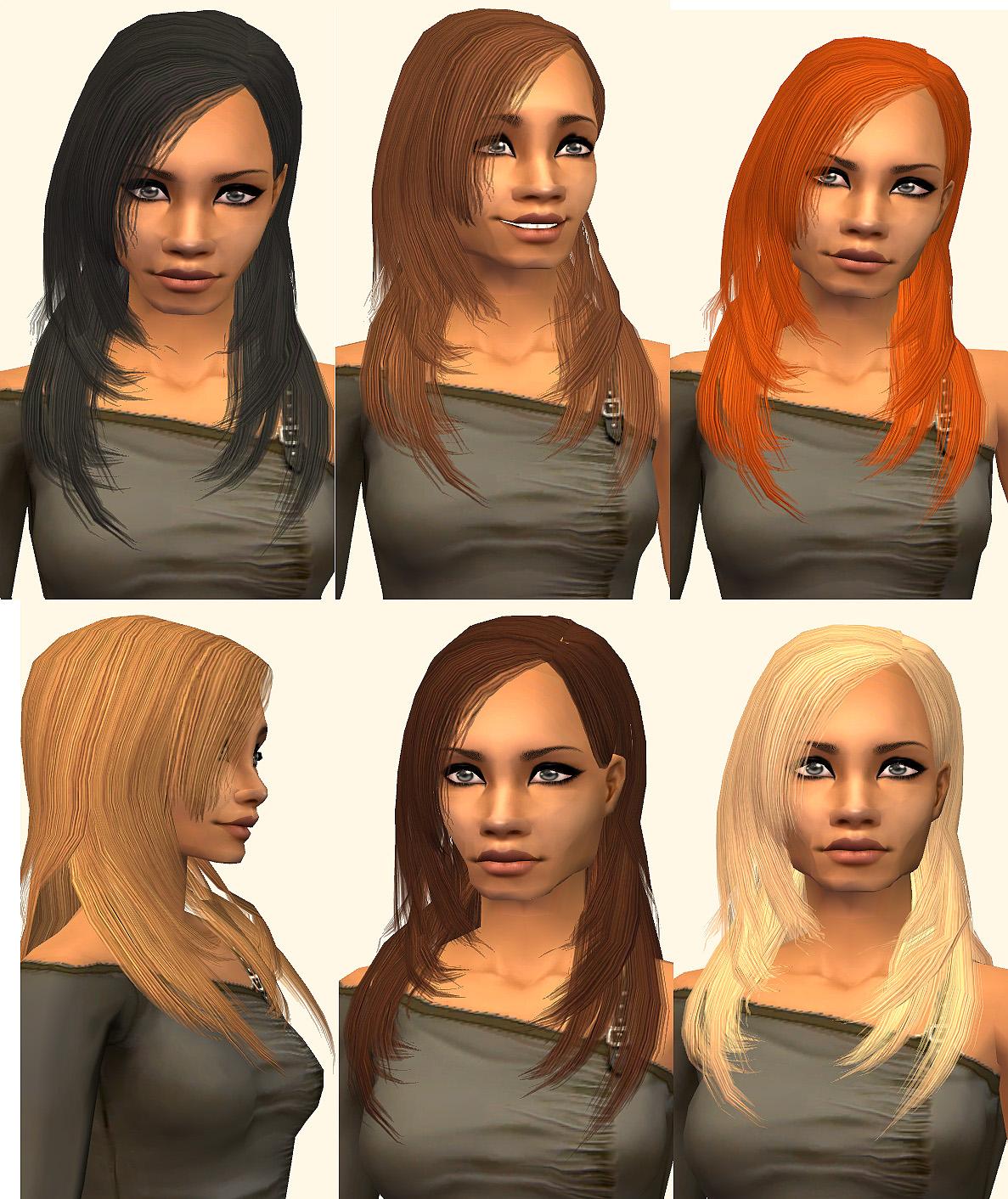 Sims 2 Hairstyles: 2 Hair Retextures