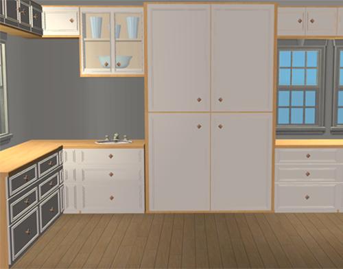Mod the sims modern edwardian kitchen mesh set for Kitchen set 7 in 1