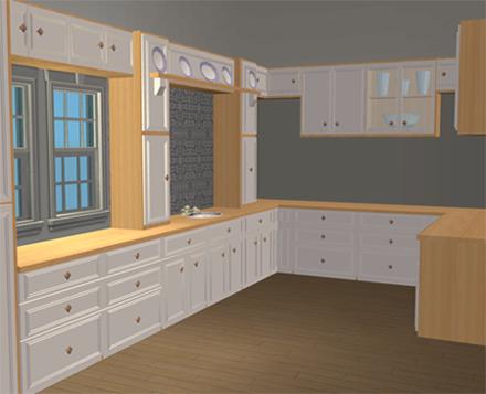 Mod the sims modern edwardian kitchen mesh set for Modern kitchen sims 3
