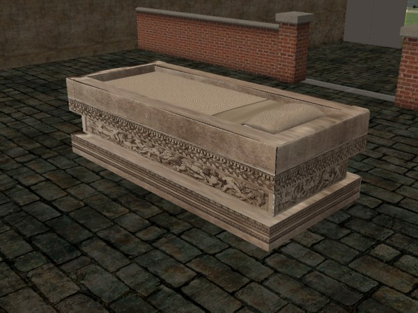 Mod The Sims Ancient Roman Sarcophagus Single Bed Re