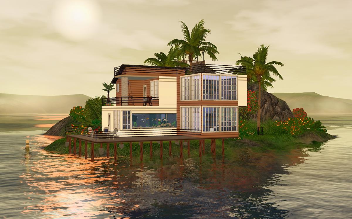 Sims  How To Build Near Beach