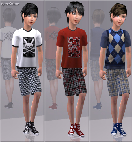 ec90ac794196 Mod The Sims - Outfits With Converse - For The Boys