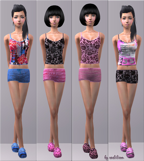 Mod The Sims - Adorable Undies for Teens