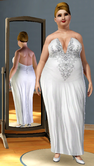 Mod The Sims Beaded Bodice Wedding Gown
