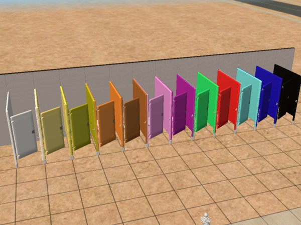Bathroom Stalls Sims 3 mod the sims - 12 toilet stall recolors