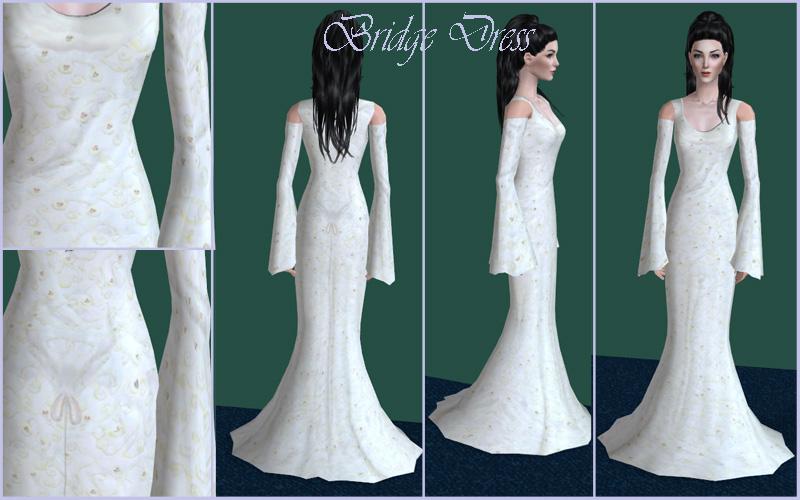 Mod The Sims - Middle-Earth Wardrobe:Arwen\'s shelf - Bridge dress
