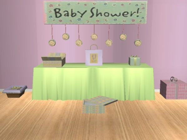 Mod The Sims Baby Shower Mesh Set