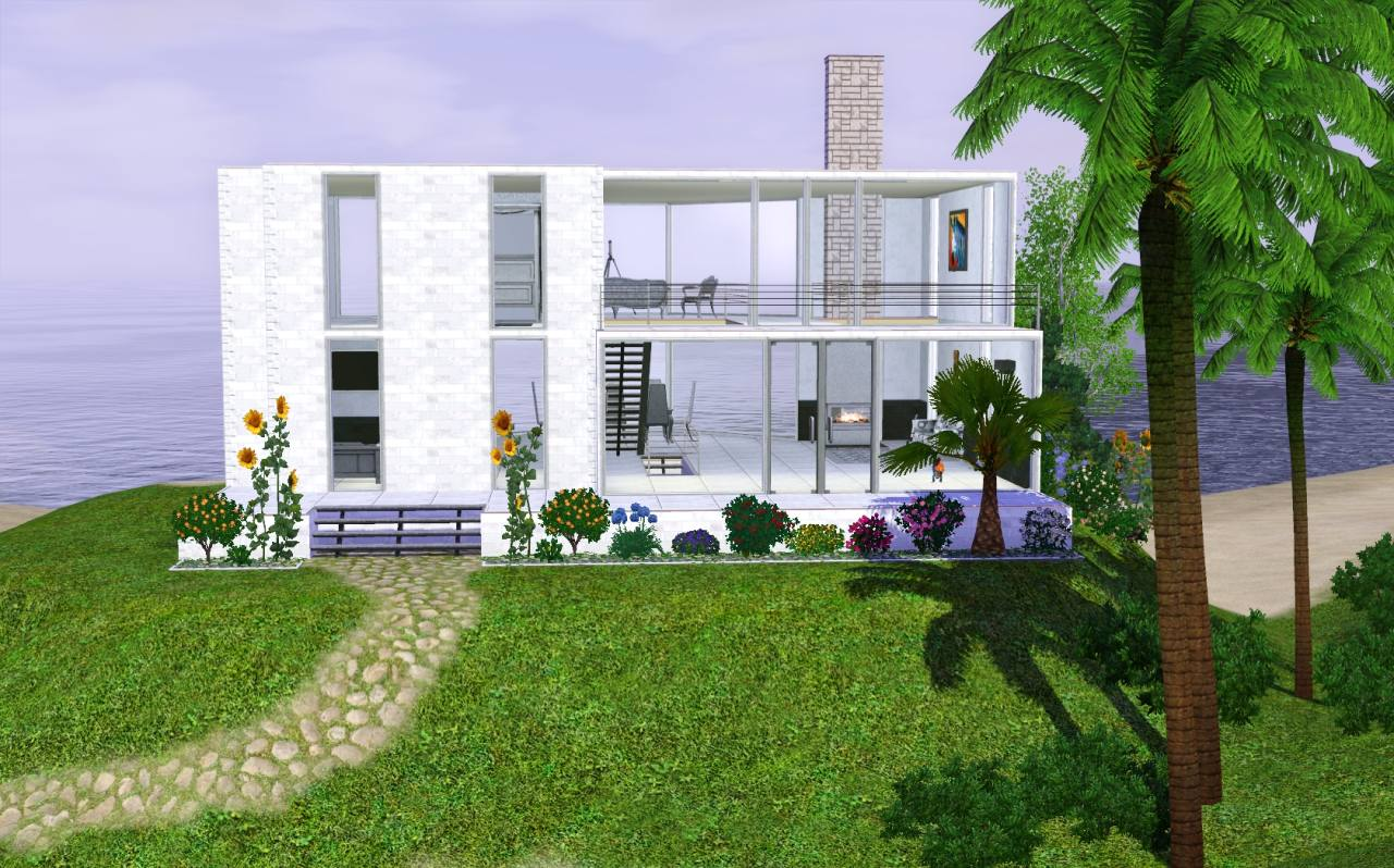 Mod the sims contemporary beach house for Contemporary beach house