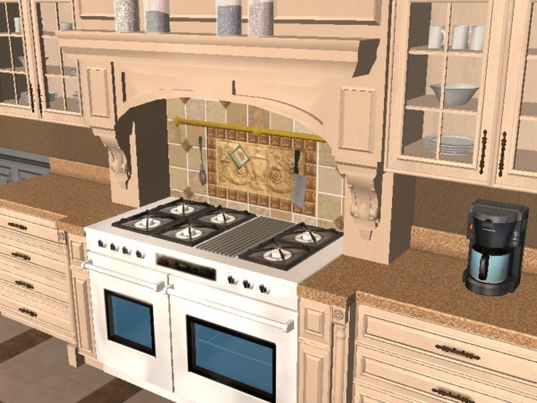 Mod the sims tuscan kitchen set updated for Kitchen set 2 x 3