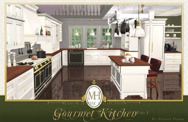Mod the sims manor house collection gourmet kitchen pt i for Kitchen ideas sims 4