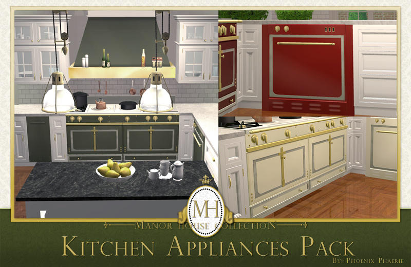 Mod The Sims Manor House Collection Kitchen Appliances Pack