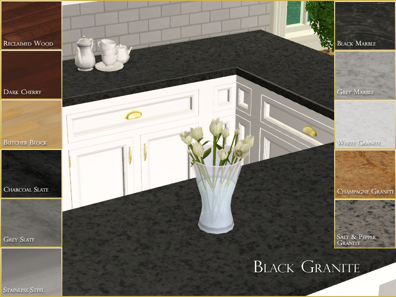 Mod The Sims - Manor House Collection: Kitchen Countertop Pack