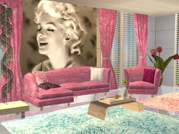 Mod The Sims - Soft pink and baby blue velvet re colour of SIP ...