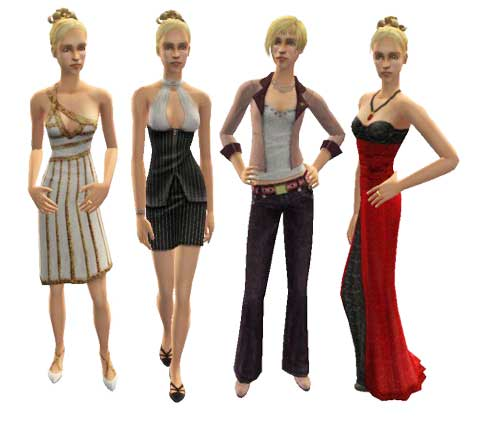 Sims 2 Adult Clothing