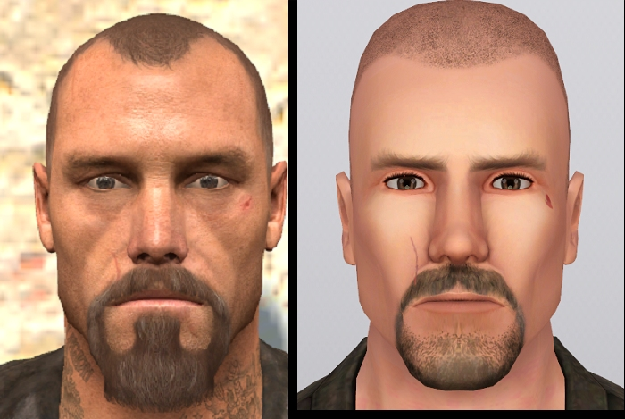Mod The Sims - Francis - Left 4 Dead + his original tattoos made by