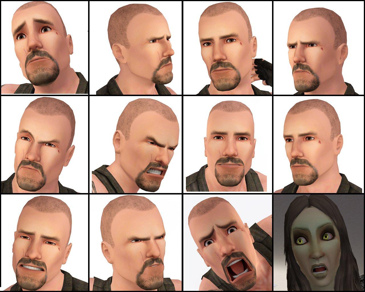 Mod The Sims - Francis - Left 4 Dead + his original tattoos