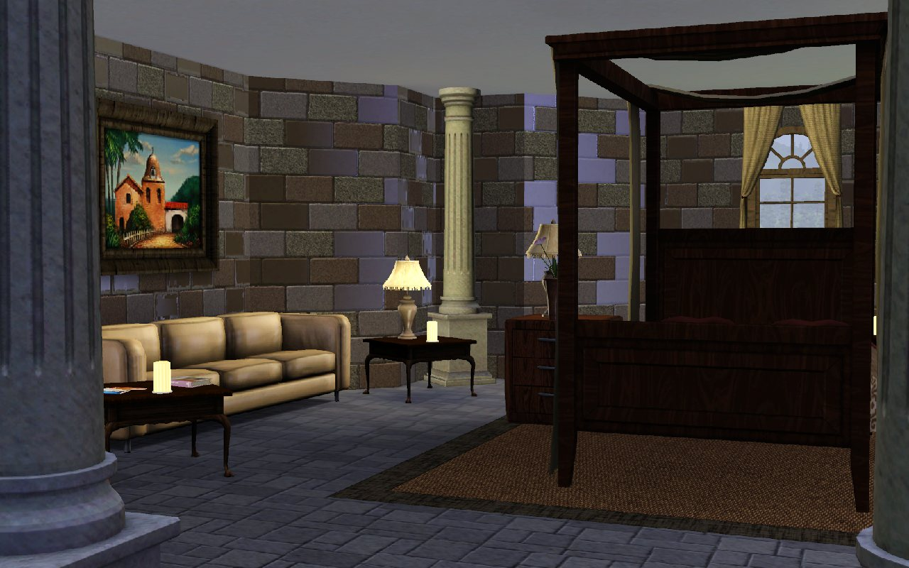 Mod The Sims - Lara Croft Manor - HUGE interior, built after the