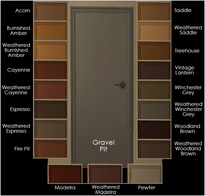 And we have the heavily-grained 2-panel Walnut Door  sc 1 st  Mod The Sims & Mod The Sims - 3 Maxis Base-Game Interior Doors Recolored