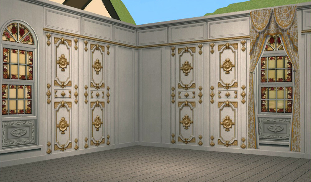 Mod The Sims Grand Fancy Panel Walls