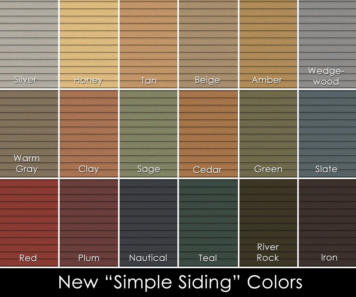 Mod the sims lots o 39 clapboard siding for Popular vinyl siding colors
