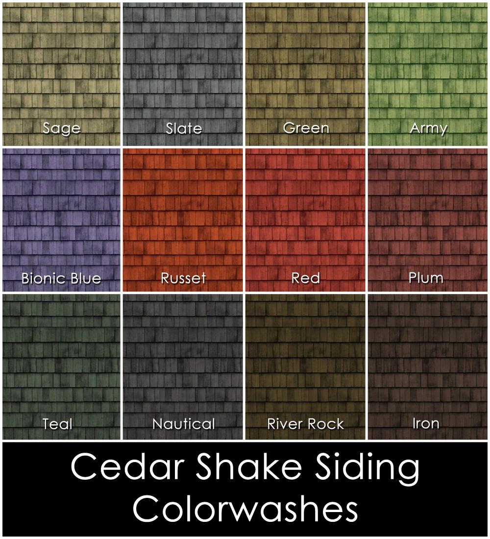Mod the sims cedar shake siding for Exterior cedar siding stain colors