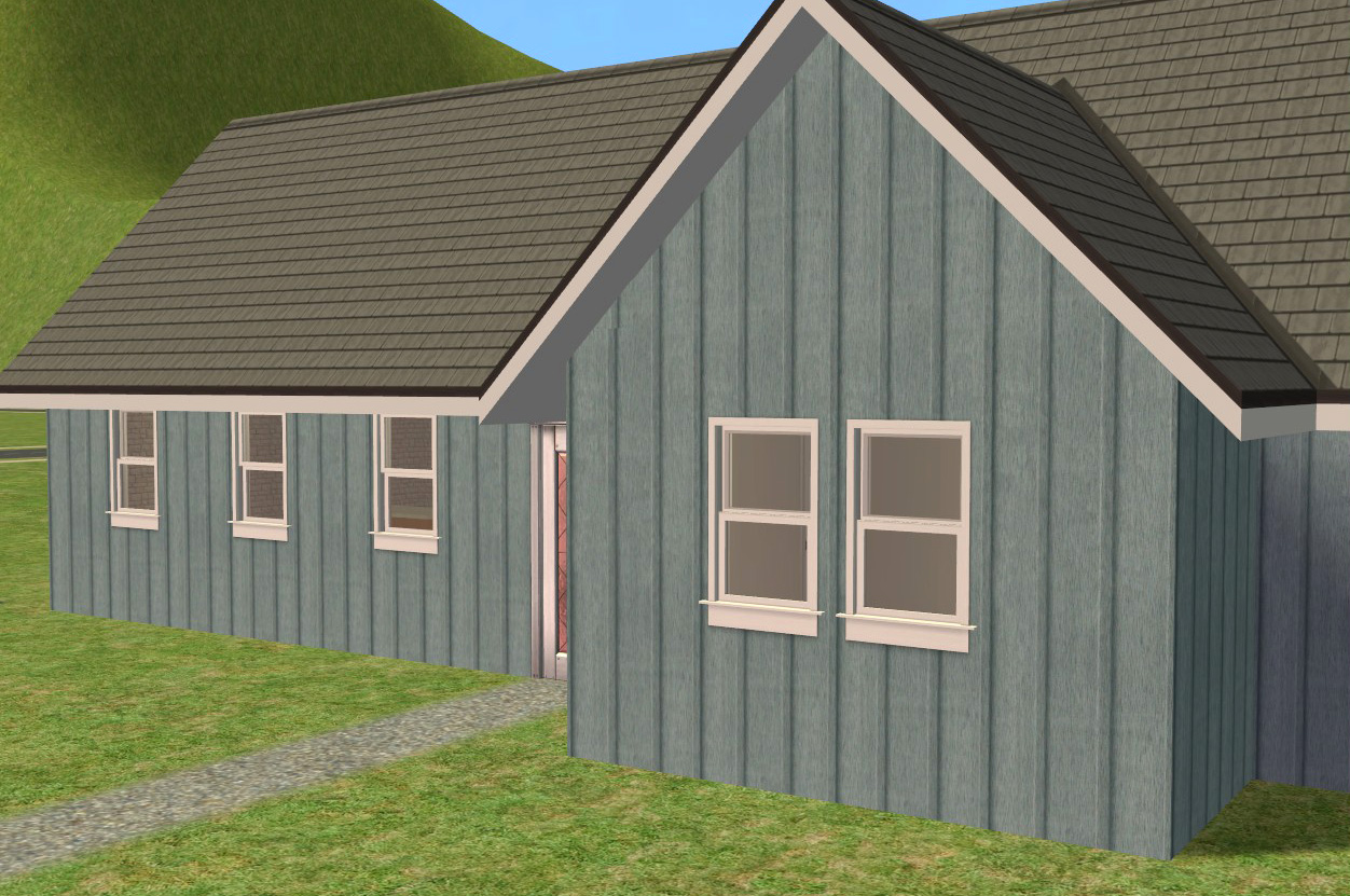 Mod the sims board batten siding for Pictures of houses with board and batten siding