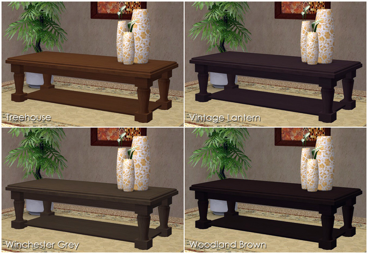 mod the sims 3 base game coffee table recolors. Black Bedroom Furniture Sets. Home Design Ideas