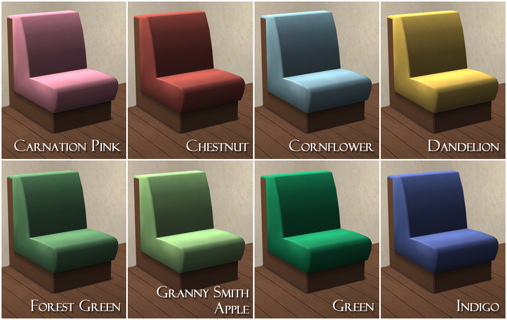 Mod The Sims Nightlife Table And Sectional Booth Recolors