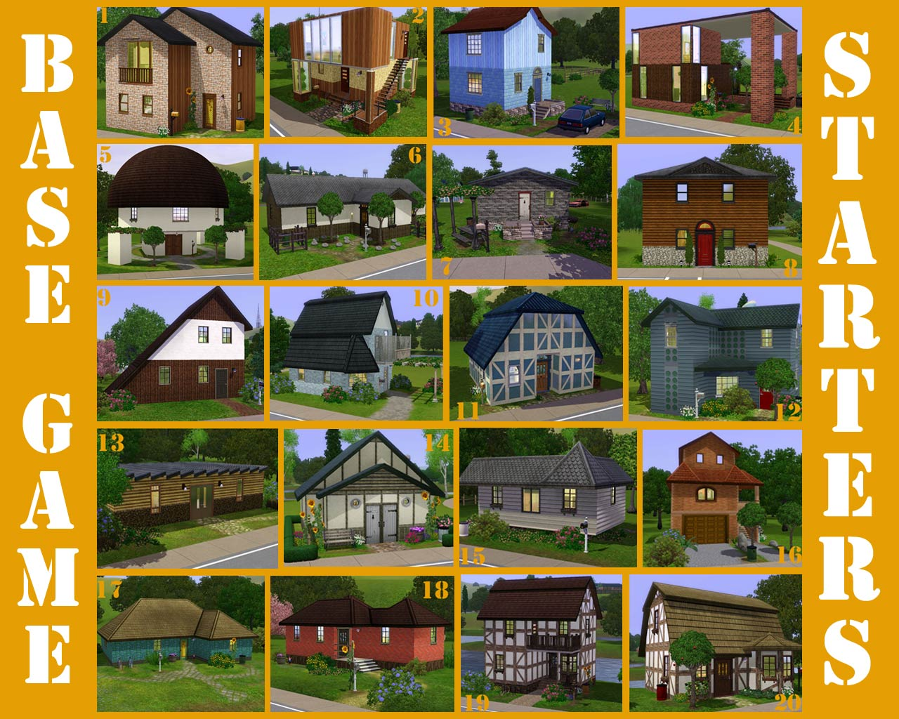 Mod The Sims - 20 Base Game Starter Homes (no CC)