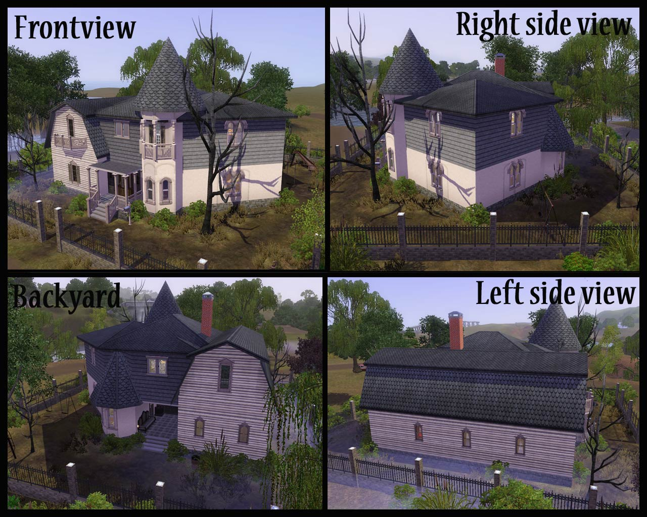 Mod the sims halloween special 2010 the munsters house for Can i find blueprints of my house online