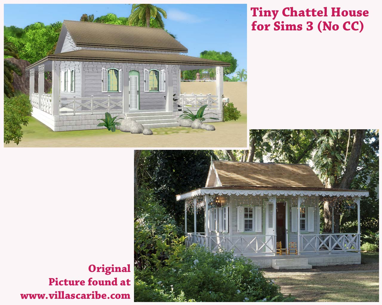 Mod the sims tiny chattel house no cc for Beach house 3 free download