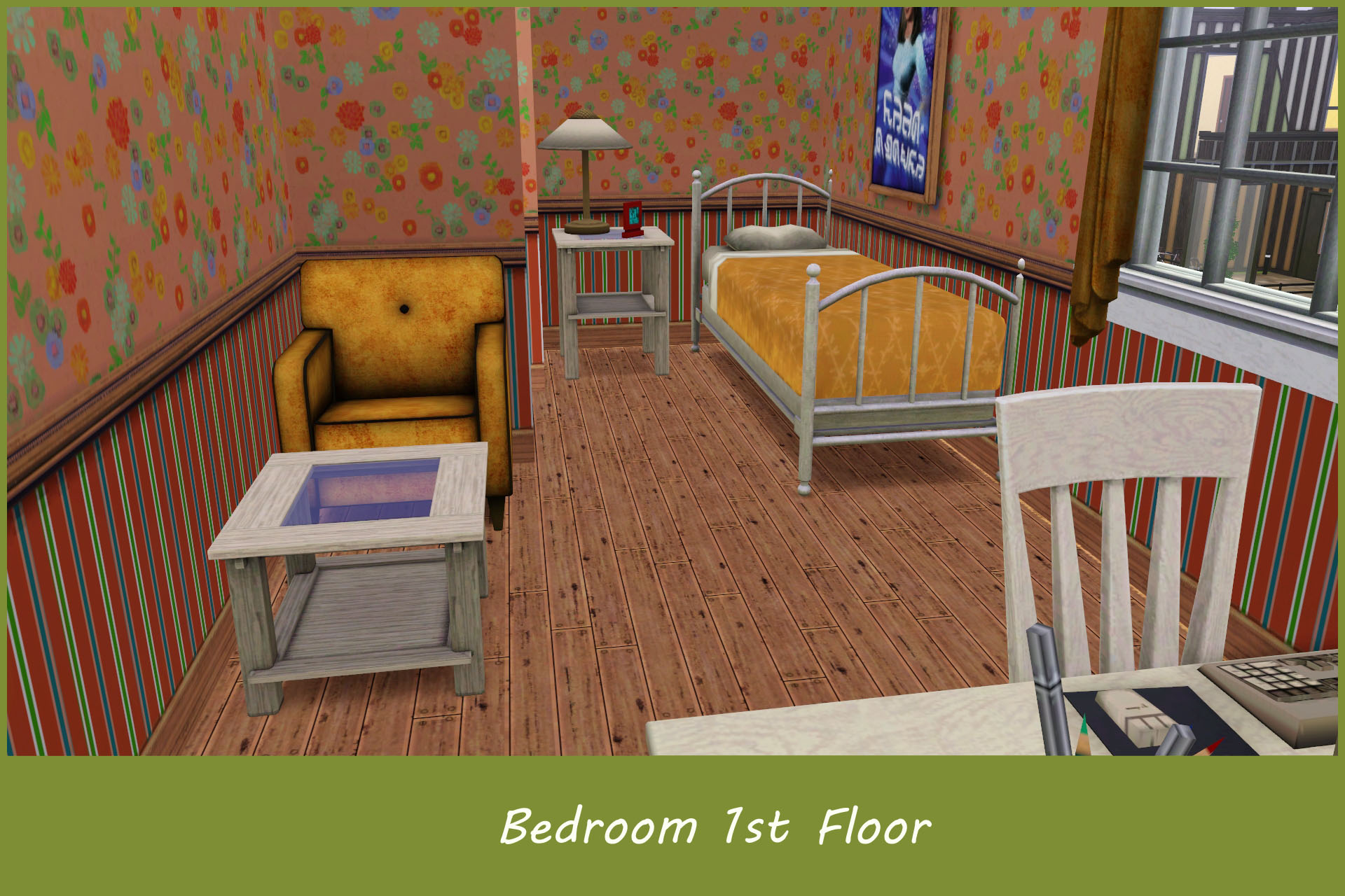 Mod the sims 10x10 tiny family home 4br 3ba no cc for Is 10x10 bedroom small