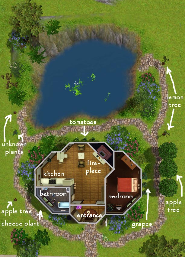 Mod The Sims LotR Hobbit Fishermens Starter Home In