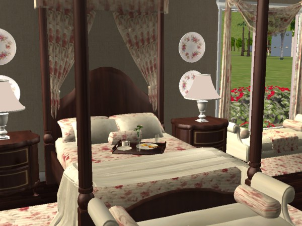 Advertisement. Mod The Sims   Country Rose Bedroom Set            meshes