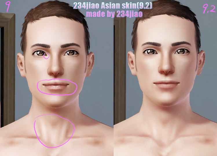 Mod The Sims 234jiao Ts3 Asian Skin Non Default Amp Default
