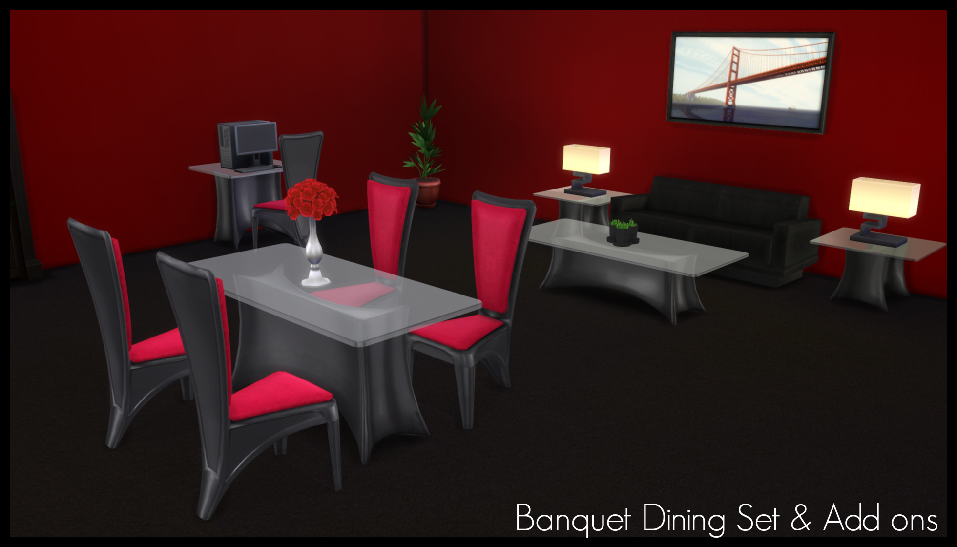 mod the sims ts2 to ts4 banquet dining set add ons