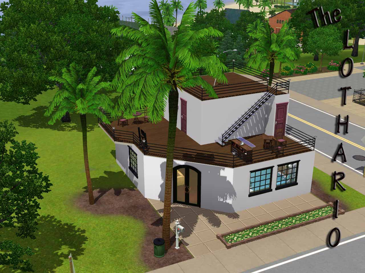 Mod the sims ts2 to ts3 150 main street lothario for Minimalist house the sims 3