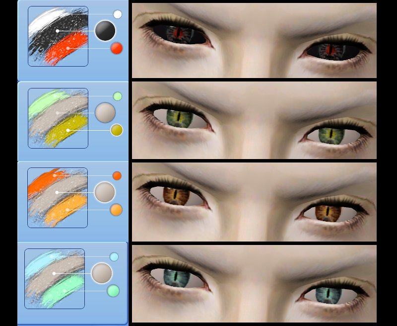 Mod The Sims - Gleam of Evil - Ominous fantasy eyes