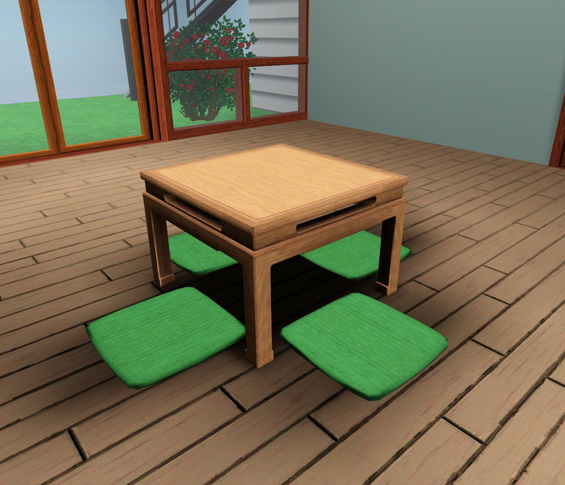 Japanese Dinner Table mod the sims - japanese low dining table (ts2 bon voyage)