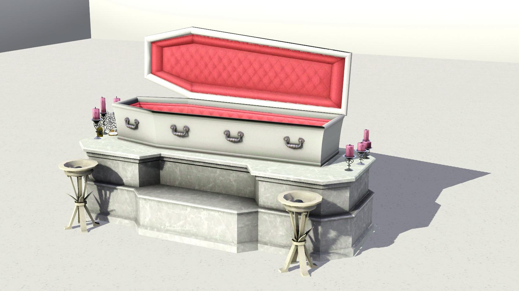 Mod The Sims - Vampire Coffin (TS2: Nightlife Adaptation)