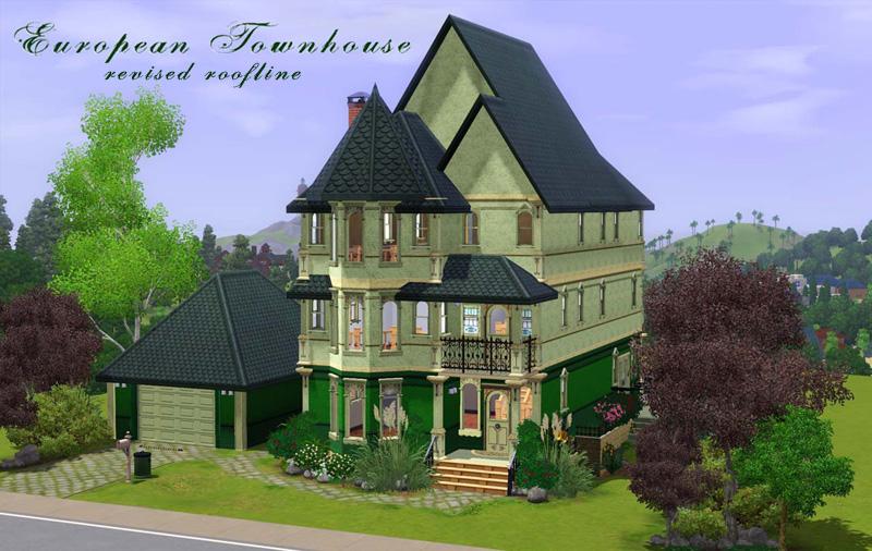 Mod The Sims European Townhouse