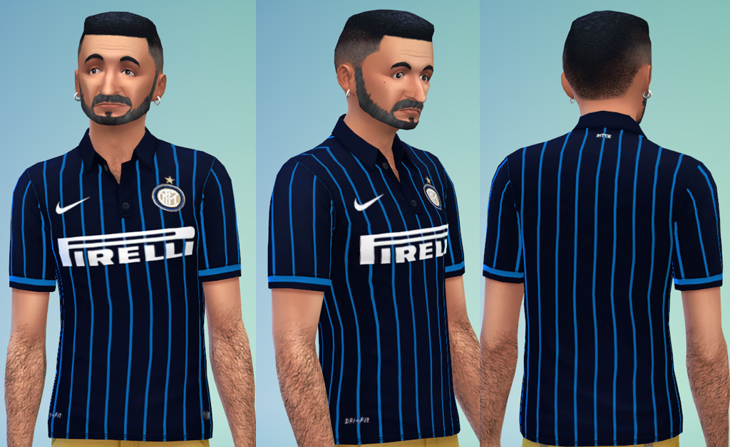 online store 2b209 67d54 Mod The Sims - Inter Milan Home Jersey 2014/15 for male sims