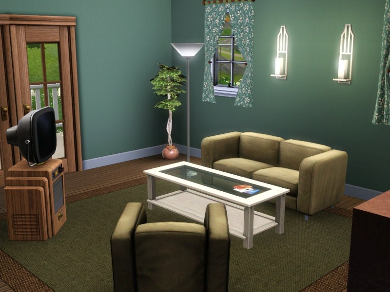 78 Sims 2 Living Room Arizona Recolor In Blue And