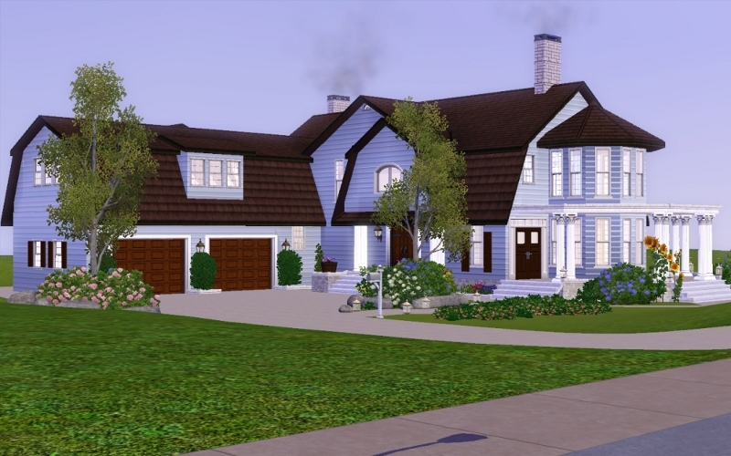 Mod the sims mint farmhouse no cc for Classic house sims 3