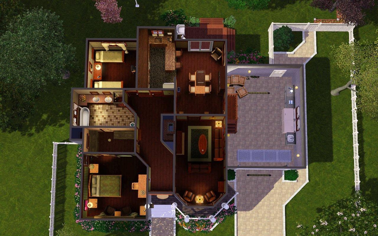 Mod the sims suburban whitewash for Suburban house plans