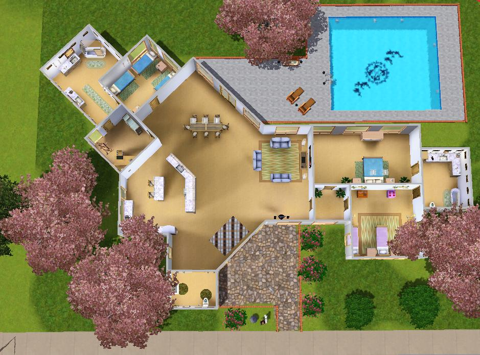 sims 3 family house blueprints. x Mod The Sims  Modern house for a big family